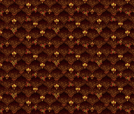 ©2011 woodnymphweddingfeast fall fabric by glimmericks on Spoonflower - custom fabric