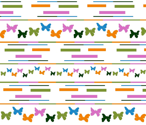 five colour butterflies fabric by raasma on Spoonflower - custom fabric