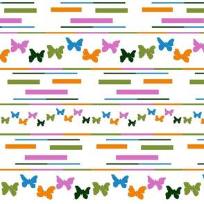 five colour butterflies