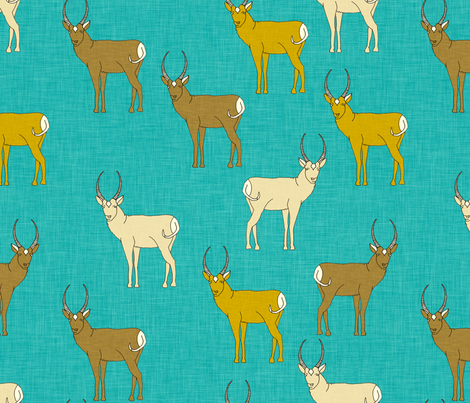 pronghorn_linen_aqua fabric by holli_zollinger on Spoonflower - custom fabric