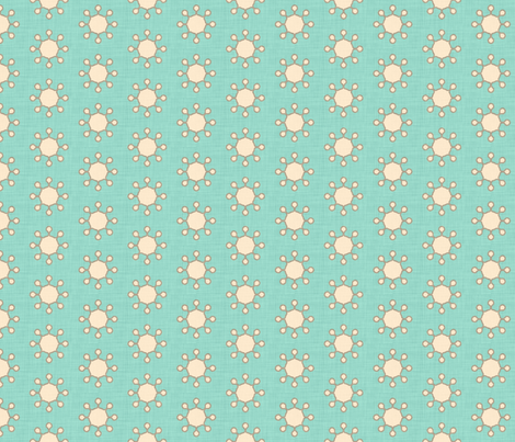 little_suns_aqua_linen fabric by holli_zollinger on Spoonflower - custom fabric