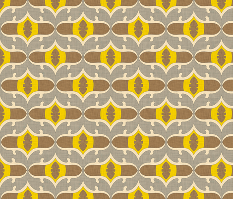 lemon_leaf_linen fabric by holli_zollinger on Spoonflower - custom fabric