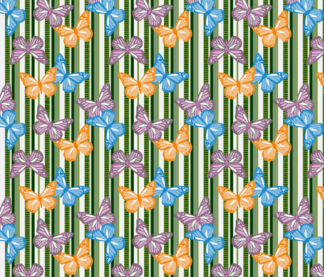 Butterfly Showers fabric by cricketswool on Spoonflower - custom fabric
