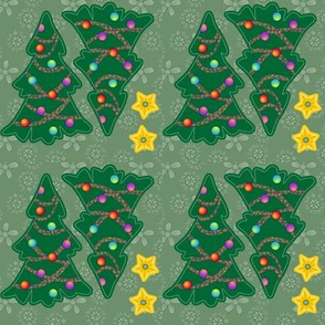 ©2011 Tiny Christmas Trees (4 per swatch)