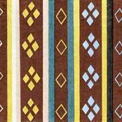 Honma Hayakuri Stripe and Diamond Pattern 1902