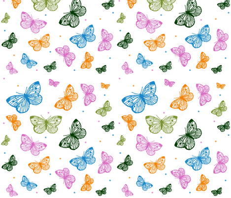 multi_butterfly_pattern fabric by veritybrown on Spoonflower - custom fabric