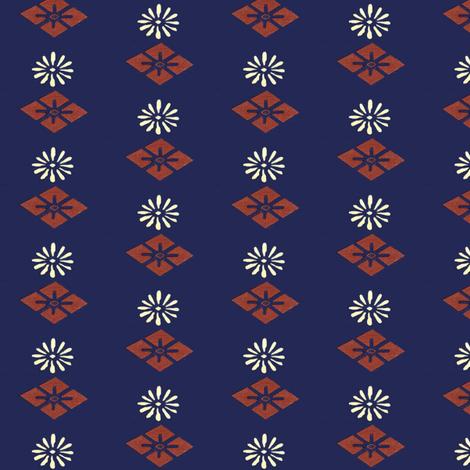 Honma Hayakuri Floral Diamond Pattern 1902 fabric by maxje on Spoonflower - custom fabric