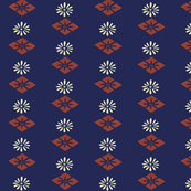 Honma Hayakuri Floral Diamond Pattern 1902