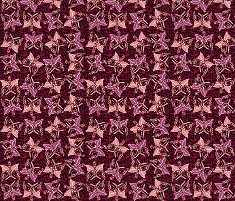 ©2011 2011 Leopard-optera red fabric by glimmericks on Spoonflower - custom fabric