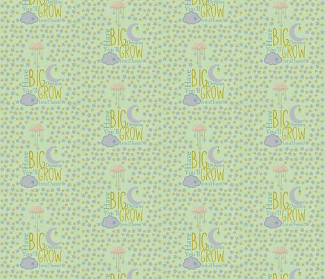 Oh Sweet Baby Big Dreams  fabric by icarpediem on Spoonflower - custom fabric