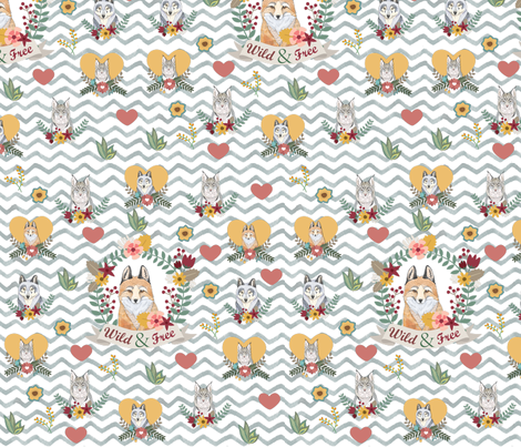 Wild and Free fabric by icarpediem on Spoonflower - custom fabric