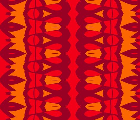 Nibs and Bows (Orange) fabric by nekineko on Spoonflower - custom fabric
