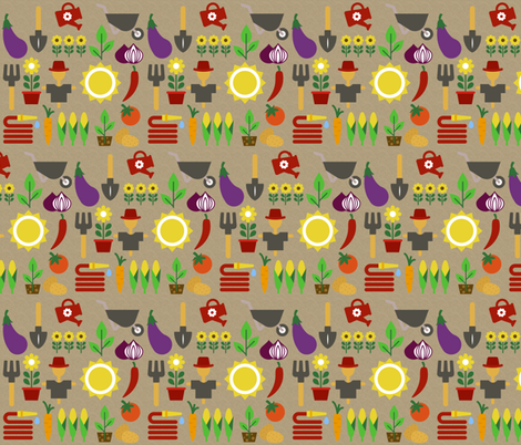 Happy Garden fabric by icarpediem on Spoonflower - custom fabric