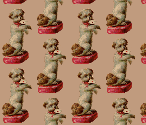 Vintage Terrier  fabric by icarpediem on Spoonflower - custom fabric