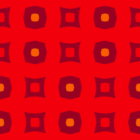 Boxes A (Orange) fabric by nekineko on Spoonflower - custom fabric
