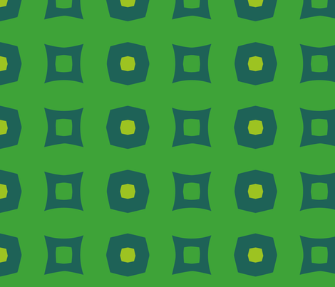 Boxes A (Green) fabric by nekineko on Spoonflower - custom fabric