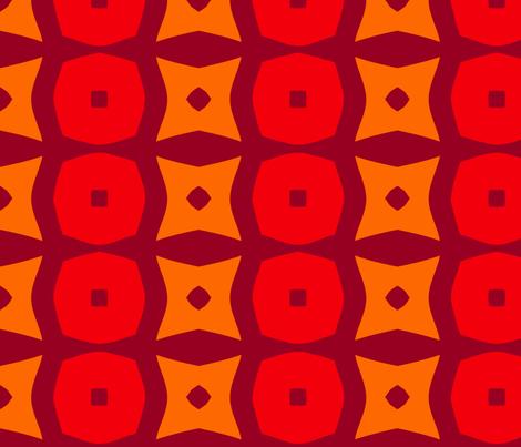 Donuts A (Orange) fabric by nekineko on Spoonflower - custom fabric