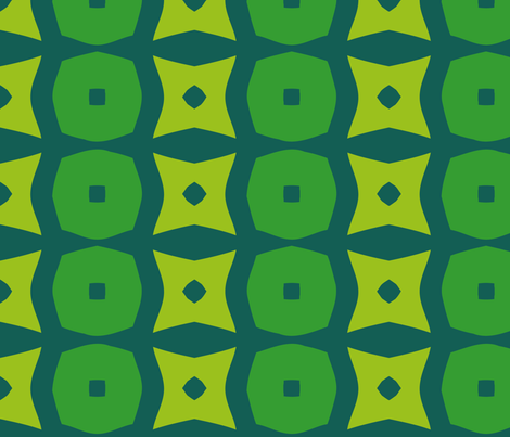 Donuts A (Green) fabric by nekineko on Spoonflower - custom fabric