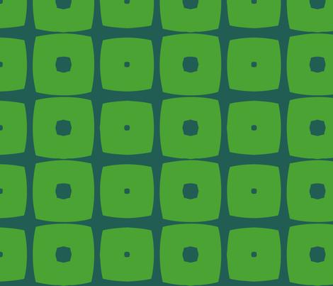 Cubes A (Green) fabric by nekineko on Spoonflower - custom fabric