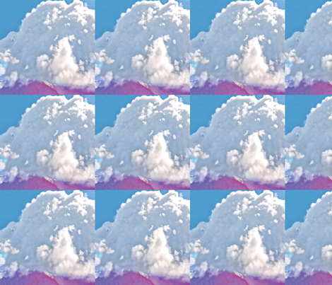 Cumulus Cloud, L fabric by animotaxis on Spoonflower - custom fabric