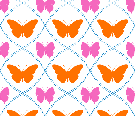 Summer Butterflies fabric by ted_and_rose on Spoonflower - custom fabric