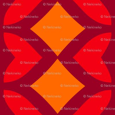 Chain of Hearts (Orange)