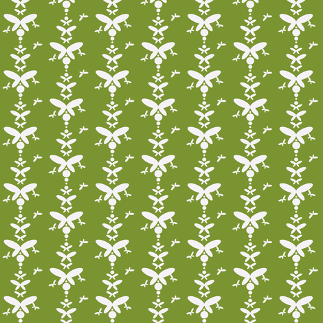 Lt. Green Butterfly fabric by joybucket on Spoonflower - custom fabric