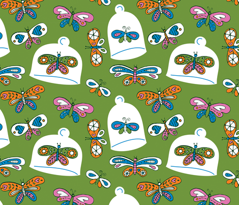 A Colorful Collection - green fabric by jordan_elise on Spoonflower - custom fabric