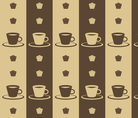 Cupcakes and Coffee fabric by weesel on Spoonflower - custom fabric