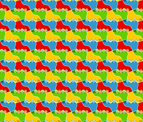 roller-skates fabric by sef on Spoonflower - custom fabric