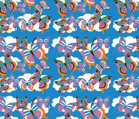 A Flutter of Butterflies fabric by owlandchickadee on Spoonflower - custom fabric