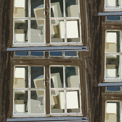 Boxes in the Window fabric by susaninparis on Spoonflower - custom fabric