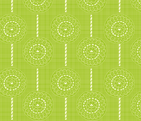 Luv-ollie Green fabric by jackieatweelife on Spoonflower - custom fabric