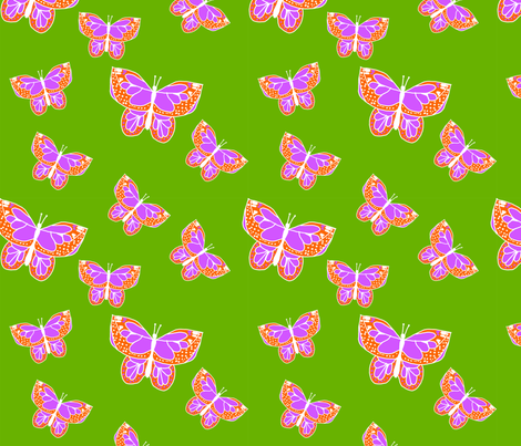 Butterflies_LimitedPalette_Contest fabric by corinnevail on Spoonflower - custom fabric