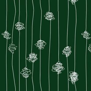 Silk Cocoons - dark green