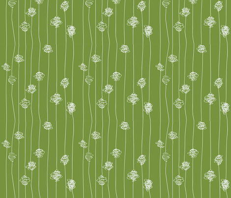 Silk Cocoons - light green fabric by majobv on Spoonflower - custom fabric
