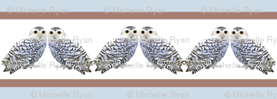 Stripey little snowy owls