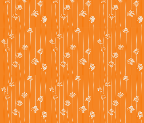 Silk Cocoons - orange fabric by majobv on Spoonflower - custom fabric
