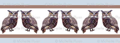 Stripey little tuffed ear owls