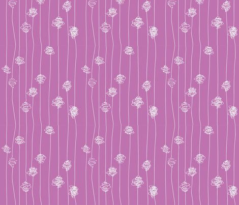 Silk Cocoons - pink fabric by majobv on Spoonflower - custom fabric