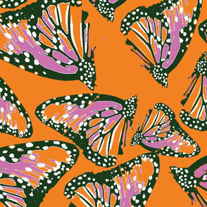 spoonflowerButterfliesOrange