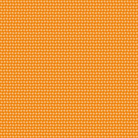 Snail on Mandarine Orange fabric by rhondadesigns on Spoonflower - custom fabric