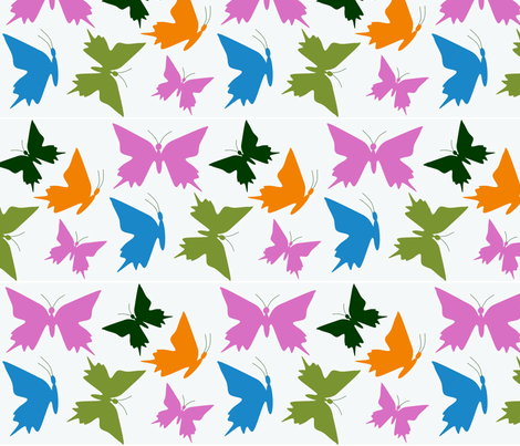 Butterflies fabric by rosapomposa on Spoonflower - custom fabric