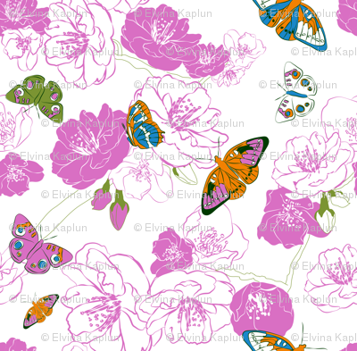Butterflies love pink!