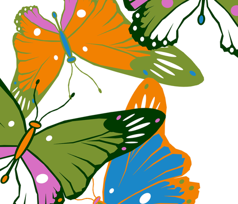 Butterfly_pattern fabric by worldwidedeb on Spoonflower - custom fabric