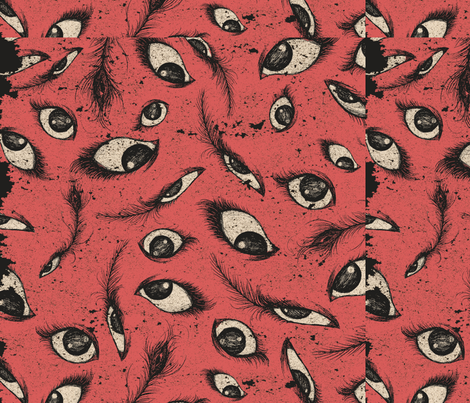 Pink Eye fabric by the_illustrated_phoebe on Spoonflower - custom fabric