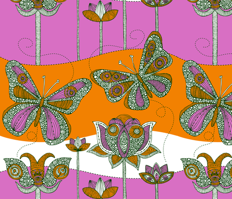 In the garden fabric by valentinaharper on Spoonflower - custom fabric