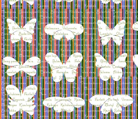 Winged creature, I will call you . . . Butterfly. fabric by seamingly_simple on Spoonflower - custom fabric