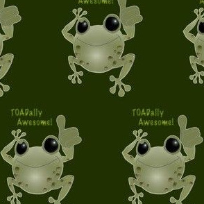 Green cartoon toad. TOADally Awesome!