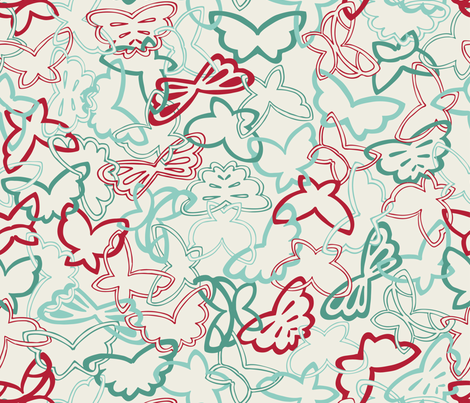 Tangled Butterflies fabric by noaleco on Spoonflower - custom fabric
